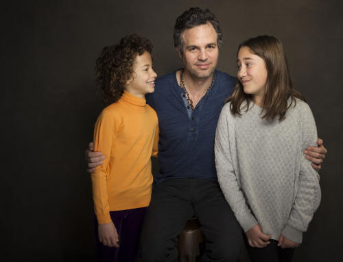 "In this Sunday, Jan. 19, 2014 photo, from left, actress Ashley Aufderheide, actor Mark Ruffalo and actress Imogene Wolodarsky of the film, ""Infinitely Polar Bear,"" pose for a portrait at The Collective and Gibson Lounge Powered by CEG, during the Sundance Film Festival, in Park City, Utah. The film starring Ruffalo, Zoe Saldana, and Keir Dullea, premiered at the 2014 Sundance Film Festival. (Photo by Victoria Will/Invision/AP)"
