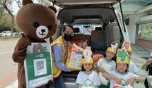 創世台中分院獲贈三車物資 感謝幼兒園孩童從小做公益