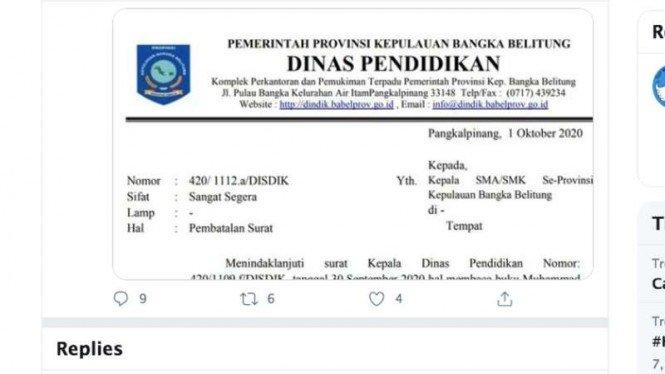 Cek Fakta: Bangka Belitung Wajibkan Siswa Baca Buku Karya Felix Siauw