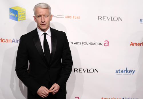 TV personality Anderson Cooper attends the Elton John AIDS Foundation 10th Annual Enduring Vision Benefit, on Wednesday, Oct. 26, 2011, in New York. (AP Photo/Peter Kramer)