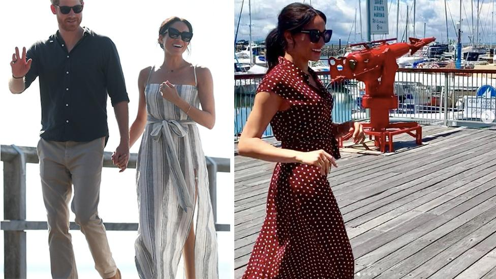 <p>While she spent most of the day resting, Meghan was spotted wearing two breezy dresses on day seven on the royal tour. </p>