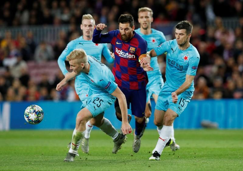 Champions League - Group F - FC Barcelona v SK Slavia Prague