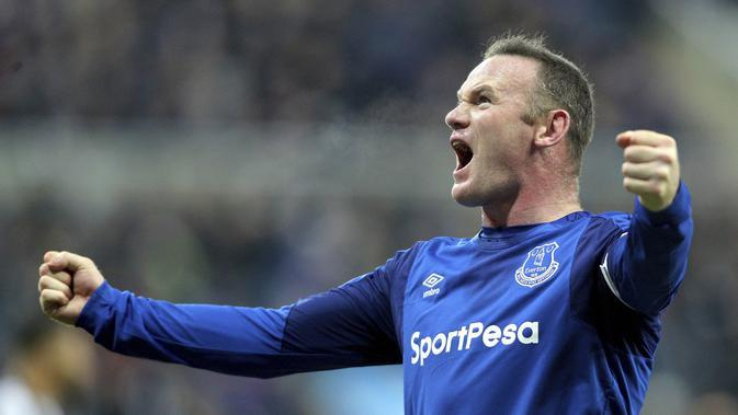 Wayne Rooney saat memperkuat Everton. (AP/Owen Humphreys)