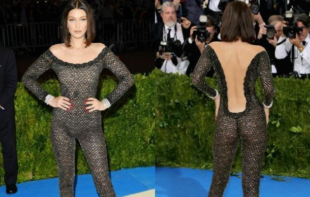 Bella's bodysuit showed every inch of her incredible figure. Photo: Getty