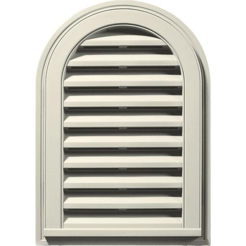 Builders Edge 16 In X 24 In Round Top White Plastic Uv Resistant Gable Louver Vent Yahoo Shopping
