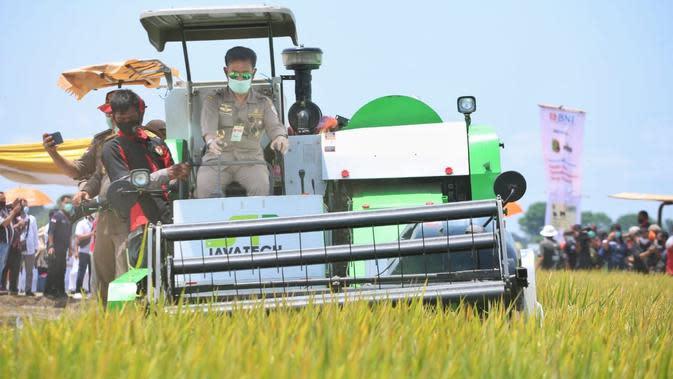 Mentan Syahrul Yasin Limpo mengapresiasi ketangguhan Provinsi Lampung sebagai penyumbang terbesar pangan nasional.