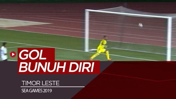 VIDEO: Timor Leste Cetak Gol Bunuh Diri Indah di SEA Games 2019