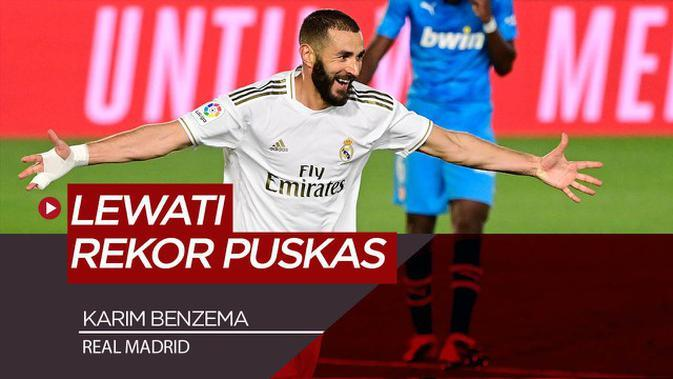 VIDEO: Karim Benzema Lewati Rekor Gol Ferenc Puskas, Namun Masih Jauh dari Cristiano Ronaldo di Real Madrid
