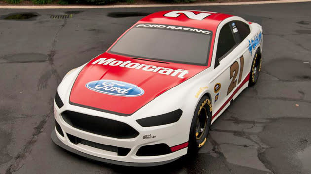 Ford Racing's NASCAR Fusion shows its first colors: Motoramic Dash