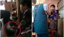 前空姐家暴影片遭家人曝光 「狂甩、踹婆婆」見消防秒磕頭