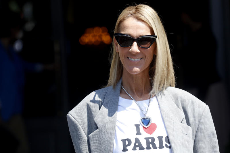 Celine Dion debuts new look after hair cut at Paris Fashion Week
