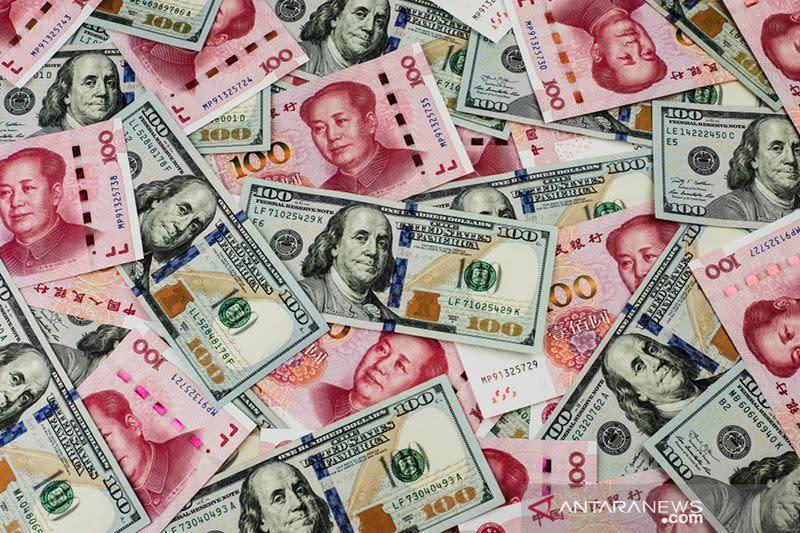 """Yuan """"rebound"""" 177 basis poin dari penurunan kemarin terhadap dolar AS"""