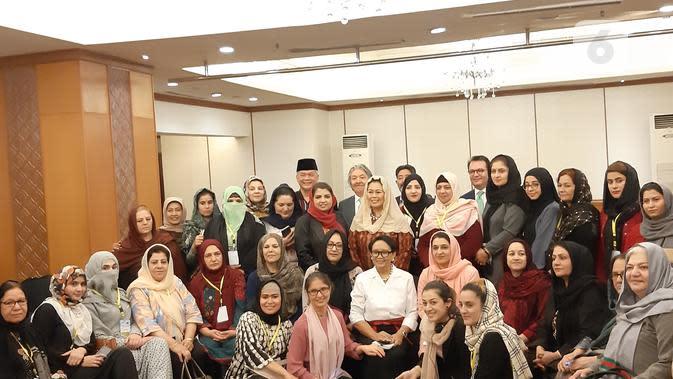 Menlu Retno Marsudi di acara dialog perdamaian dengan wanita Afganistan. Dok: Tommy Kurnia/Liputan6.com