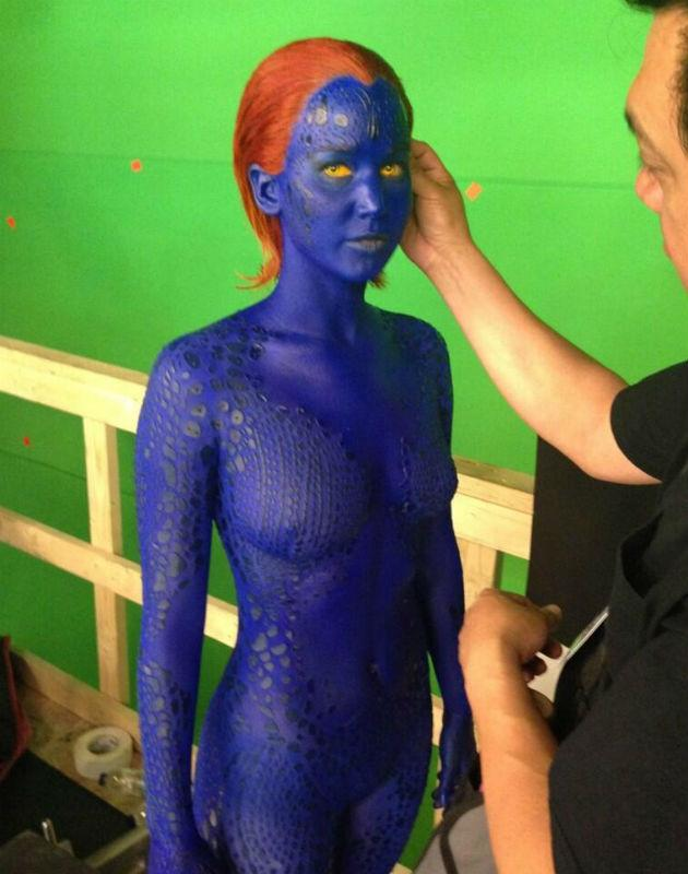 Singer tweets first picture of Jennifer Lawrence as Mystique