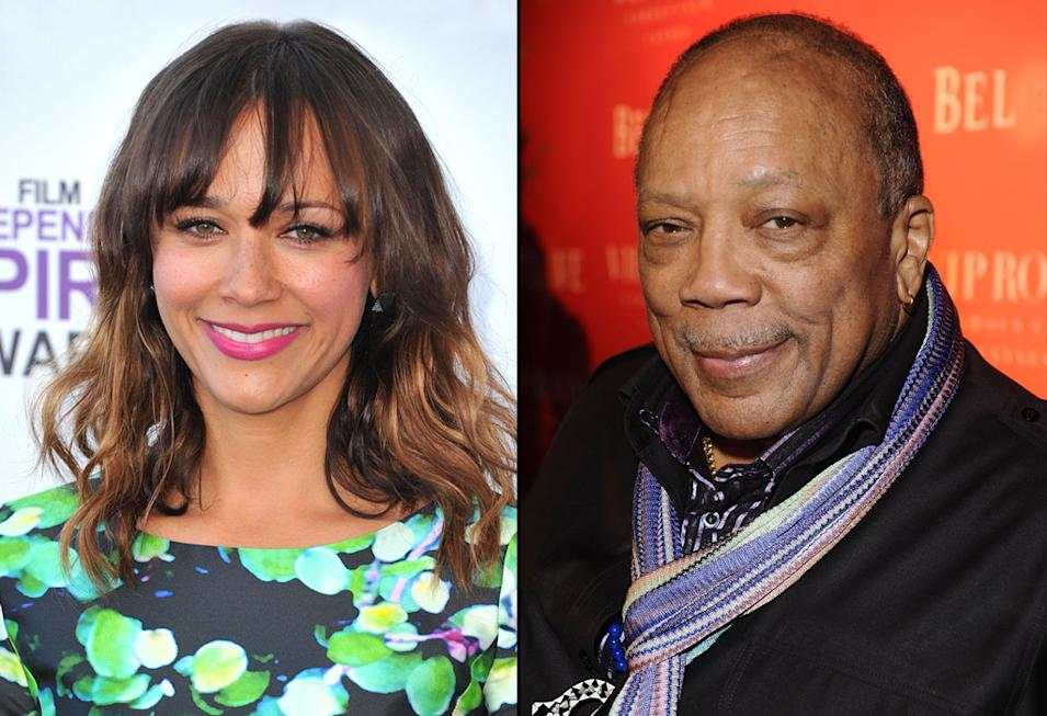 Rashida Jones, Quincy Jones, Actors with Musician Parents