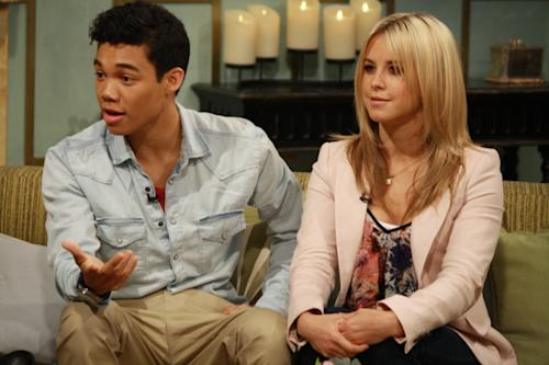Roshon Fegan and Chelsie Hightower talk about 'Dancing with the Stars' on the set of Access Hollywood Live on May 4, 2012 -- Access Hollywood