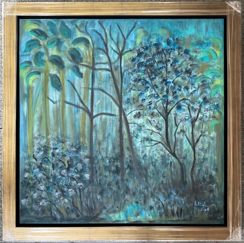 'Forest Tranquility' was gifted to Malaysian cardiothoracic surgeon, Tan Sri Datuk Dr Yahya Awang and his wife by Halimah. — Photo courtesy of Datuk Halimah Mohd Said