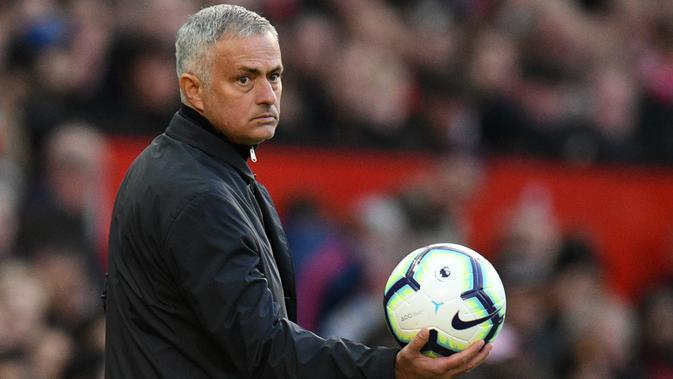Hasil yang kurang memuaskan saat menjadi manajer Manchester United membuat Jose Mourinho kariernya bersama Setan Merah tidak berlangsung lama. (AFP/Oli Scarff)