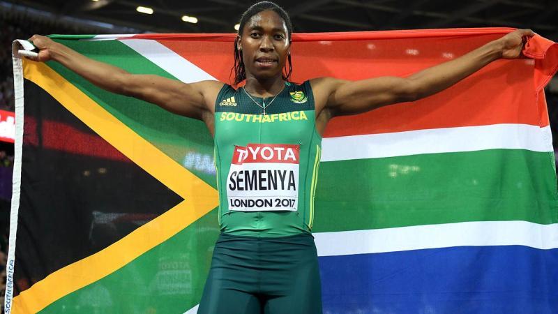 Caster Semenya at the 2017 World Championships.