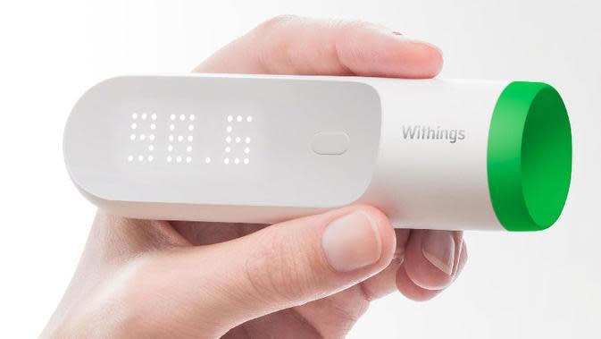 Termometer pintar yang bisa mengetahui suhu tubuh lewat kulit dalam hitungan dua detik.