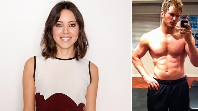 Aubrey Plaza Wants Onscreen Hubby Chris Pratt 'Big and Round Again'