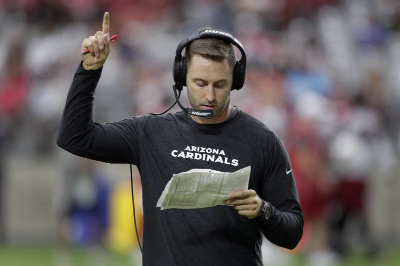 """Arizona Cardinals coach Kliff Kingsbury is among those mad at the latest version of """"Madden,"""" though not because of his team's ratings. It's because of his appearance."""