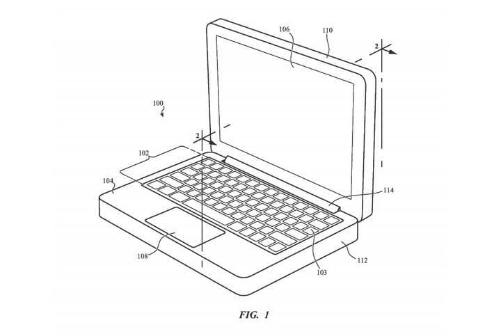 Apple MacBook retractable keyboard patent