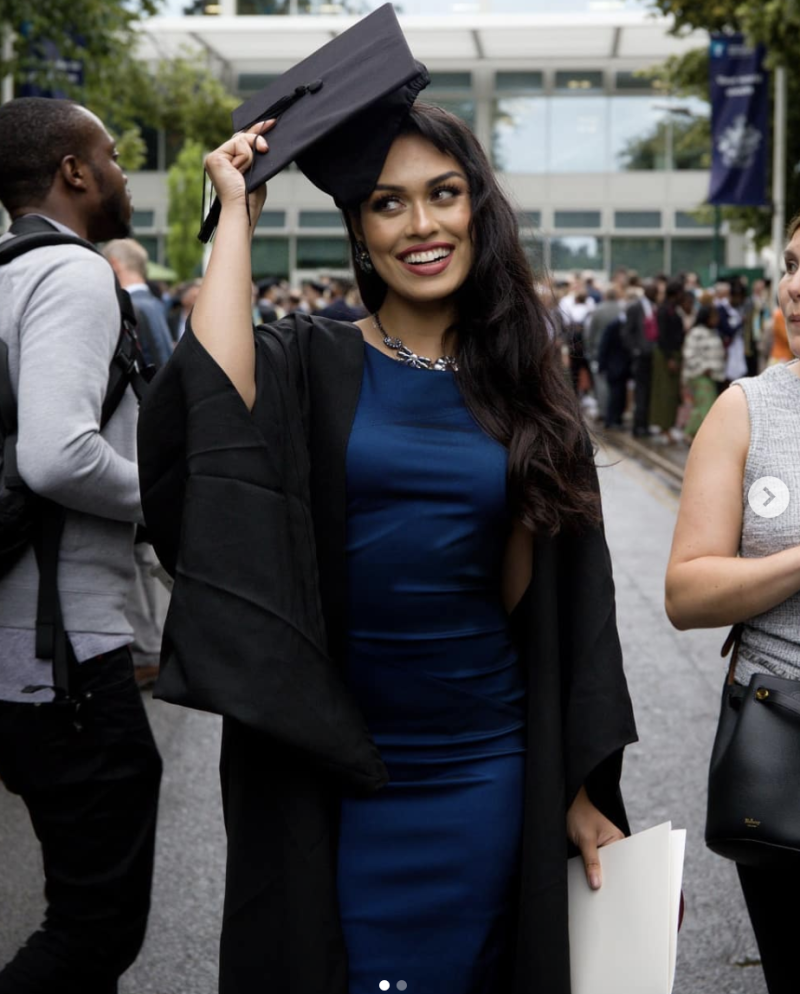 Bhasha Mukherjee graduated from medicine in July, but she's been kicking goals for years. Photo: Instagram/bhasha05