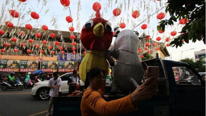 Menanti Gemerlap Cahaya Lampion Imlek di Pasar Gede Solo