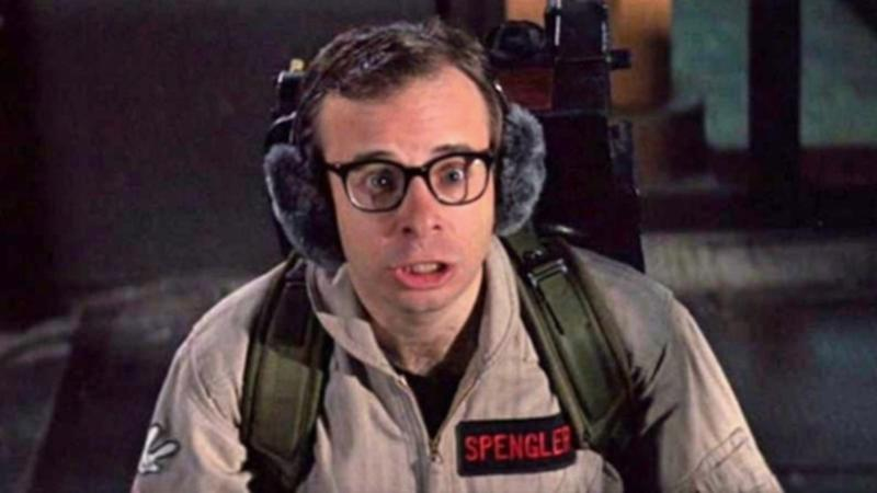 Rick Moranis as Ghostbusters' Louis Tully (Credit: Columbia Pictures)