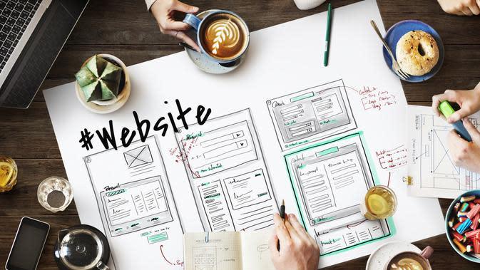 ilustrasi unsur-unsur dalam website/shutterstock