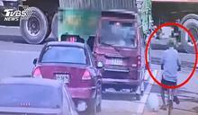 七旬翁騎單車剛理完髮 家門前遭大車輾斃