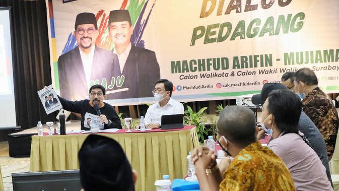 Yakin Revitalisasi Pasar Terwujud, Tokoh Pasar Surabaya Dukung Machfud-Mujiaman