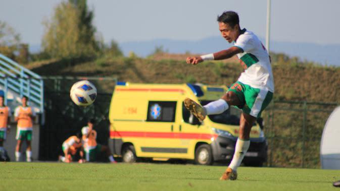 Beckham Putra mengaku siap bekerja keras membela Timnas Indonesia U-19 jika dipercaya bermain melawan Dinamo Zagreb. (dok. PSSI)