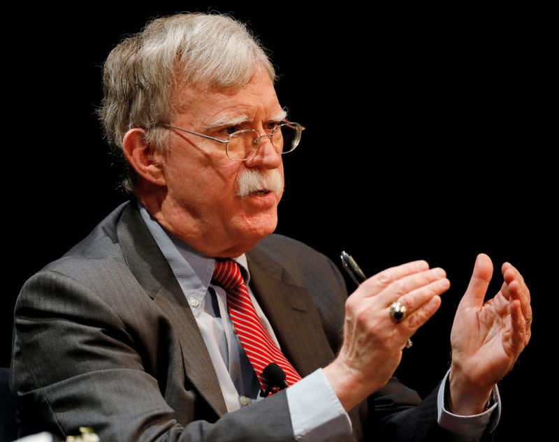 U.S. judge denies Trump's bid to block Bolton's book but criticizes ex-adviser