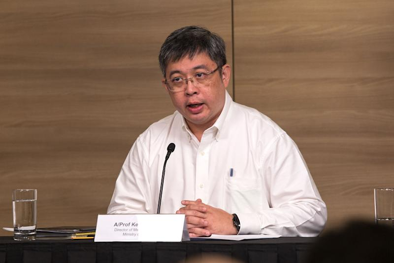 MOH's director of medical services Kenneth Mak speaking at the multi-ministry taskforce on the Wuhan coronavirus press conference on 4 February 2020. (PHOTO: Dhany Osman / Yahoo News Singapore)