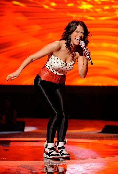 "Jackie Tohn performs ""A Little Less Conversation"" by Elvis Presley on ""American Idol."""