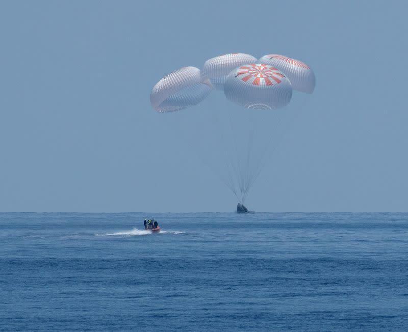 NASA astronauts cap historic 'odyssey' aboard SpaceX Crew Dragon capsule