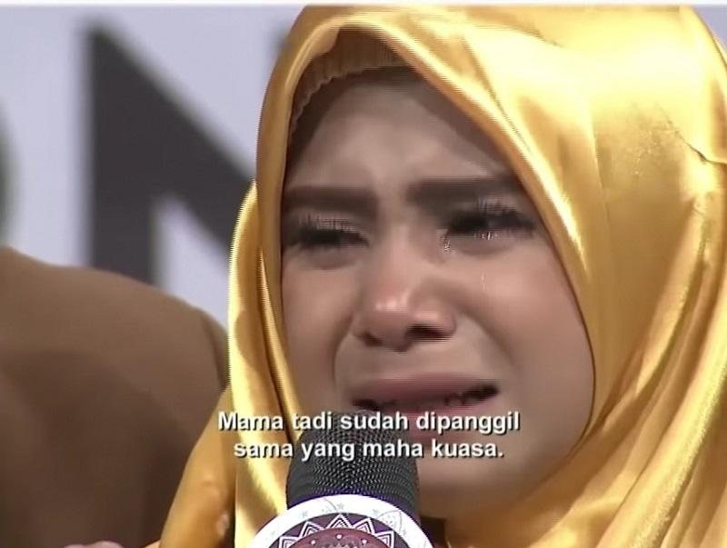 Nurjannah had joined LIDA 2020 so that she could help with her mother's medical bills.— Screenshot via YouTube/Indosiar