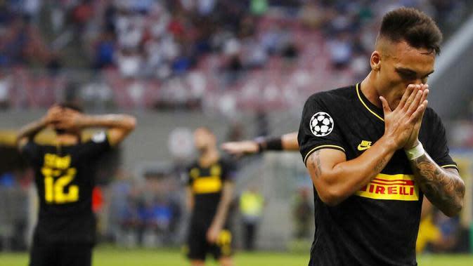 Penyerang Inter Milan, Lautaro Martinez (AP/Antonio Calanni)