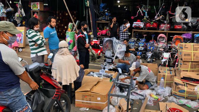 4 Pedagang Pasar Gembrong Cempaka Putih Positif Covid-19