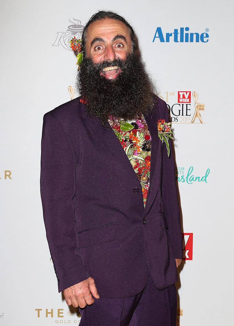 Costa Georgiadis arrives at the 61st Annual TV WEEK Logie Awards at The Star Gold Coast on June 30, 2019 on the Gold Coast, Australia.