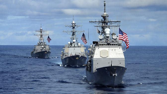 Kapal perusak milik AS berlayar ke Laut China Selatan (AFP/US Navy)