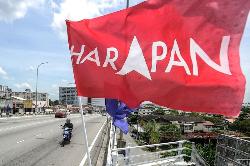 A Pakatan Harapan flag is seen along Jalan Sg Chua, in Balakong August 23, 2018. — Picture by Shafwan Zaidon
