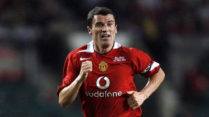 2. Roy Keane - Keane mejadi kapten terlama kedua di Manchester United. Kane dipercaya menjadi kapten Manchester United dari tahun 1997-2005. (AFP/Andrew Yates)