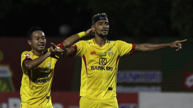 Gelandang Bhayangkara FC, Bruno Matos. (Bola.com/Yoppy Renato)