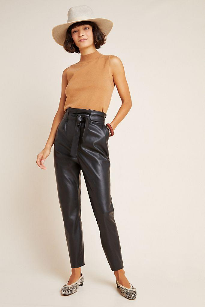Annika Faux Leather Trousers