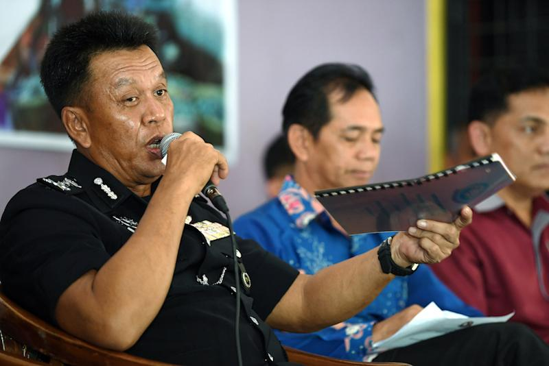 ESSCom commander Datuk Hazani Ghazali addresses a press conference in Sandakan February 23, 2019. — Bernama pic