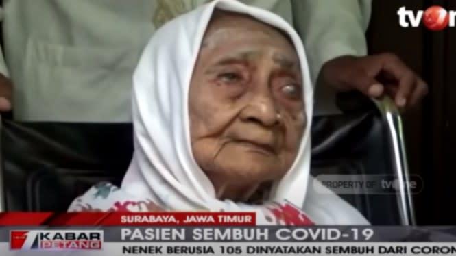 Kabar Bahagia, Nenek Berusia 105 Tahun Sembuh dari COVID-19