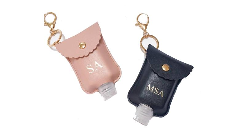 Personalised Hand Sanitiser Bottle holder,AnnetteRoseCo.etsy.com | £6.49 (AnnetteRoseCo/Etsy)